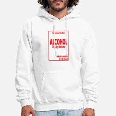Alcohol Label - Simple DIY Halloween Costume - Men's Hoodie