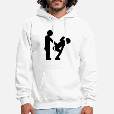 Witty straight couple - Men's Hoodie