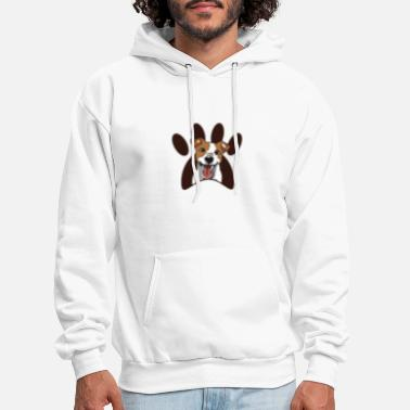 Paw Dog with paw - Men's Hoodie