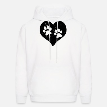 Mens Pullover Hoodie Casual Switzerland Flag Dog Paw Cotton Outwear for Mens