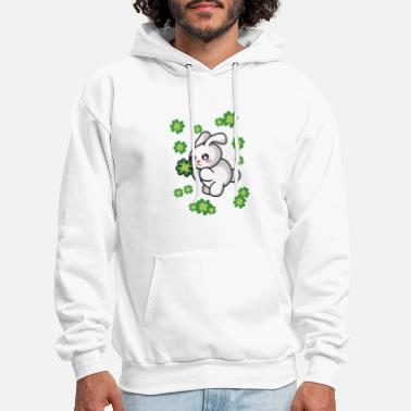 Cloverleaves Rabbit with cloverleaves - Men's Hoodie