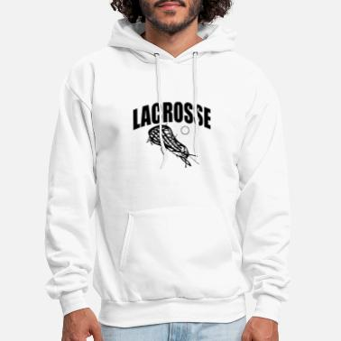 lacrosse black and white shirt for men women game - Men's Hoodie
