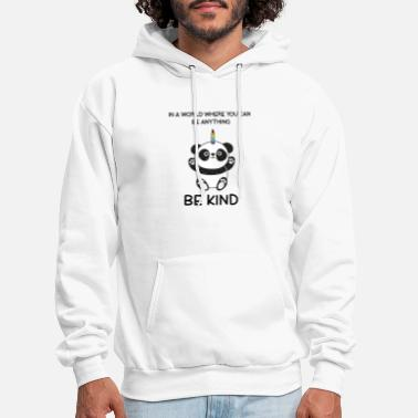 Kind Cute Unicorn Lover Quotes - Men's Hoodie