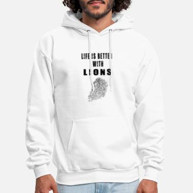 Cute Tiger Adorable Life Lion Lover Quotes - Men's Hoodie