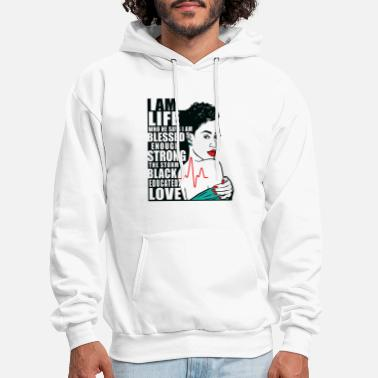 Black Girl Magic Red Lips - Men's Hoodie