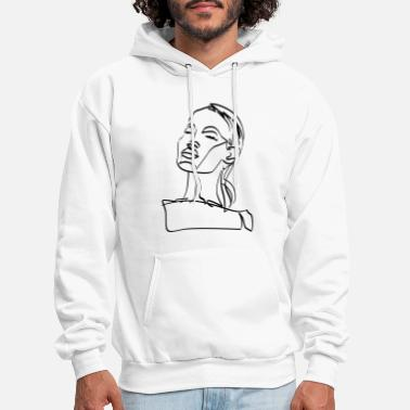 Fatal Woman Vector Line Drawing - Men's Hoodie