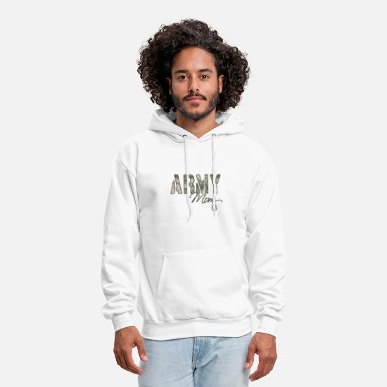 Brat Hoodies & Sweatshirts - army_mom_camo_w_dog_tags - Men's Hoodie white