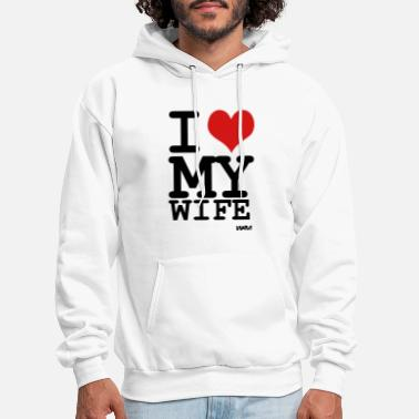 I Love i love my wife by wam - Men's Hoodie