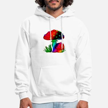 Magic Mushrooms Abstract Magic Mushroom Shroom Design - Men's Hoodie