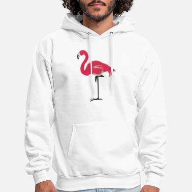 Bigfoot and Lawn Flamingo Back Print Long Sleeve Hoody for Man