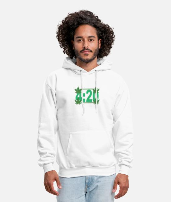 Rasta Hoodies & Sweatshirts - 420_cannabis_rasta_marijuana_funny_shirt - Men's Hoodie white