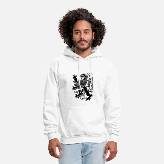 Cool Hoodies & Sweatshirts - royal lion design - Men's Hoodie white