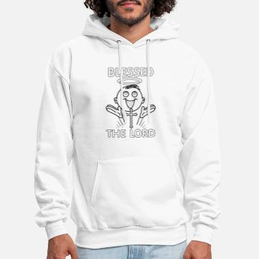 Hallo 'angel Blessed the lord' white - Men's Hoodie