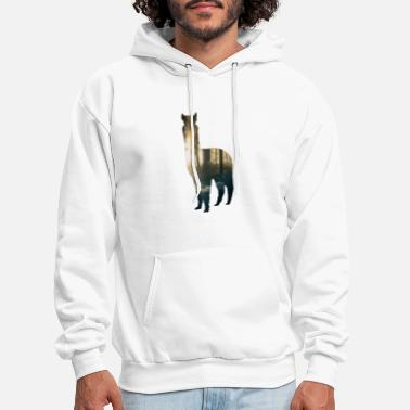 Bolivia Alpaca cute llama girl animal love gift - Men's Hoodie