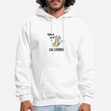 Slavery Rainbow Save Our Children End Human Trafficking - Men's Hoodie