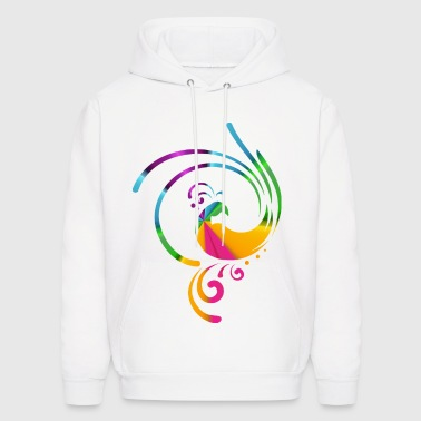 Colorful rolling bird - Men's Hoodie