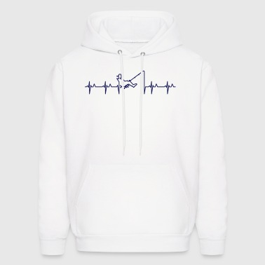My heart beats for fishing (1c) - Men's Hoodie