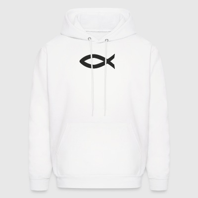 Christian fish symbol - Men's Hoodie