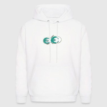 crazy_cars_graffiti_light_green - Men's Hoodie