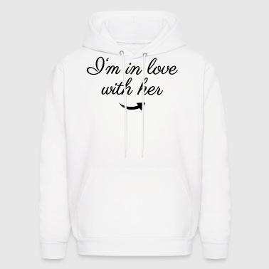 In love with her - Men's Hoodie