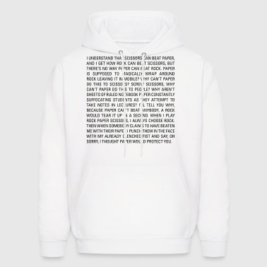 Rock Paper Scissors T-shirt - Men's Hoodie