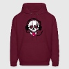 A skull stretched tongue out with headphones  - Men's Hoodie