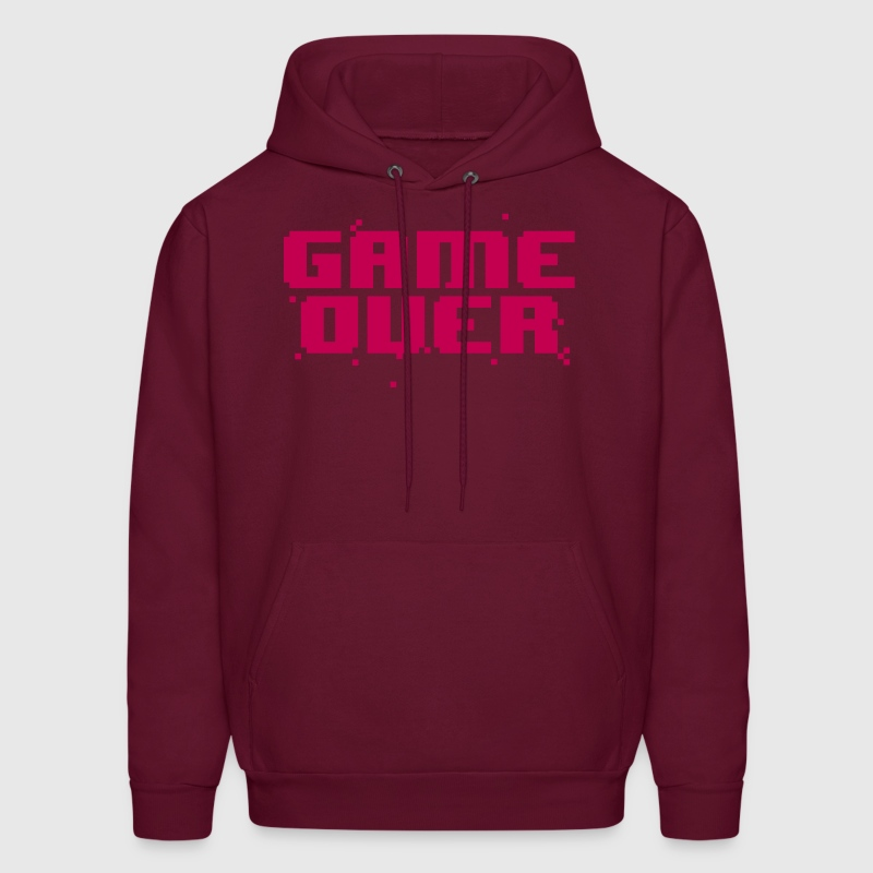 Game Over Pixel Text - Men's Hoodie
