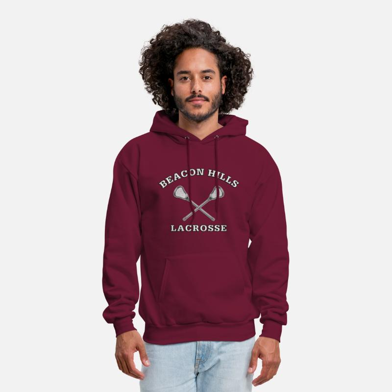 Lacrosse Hoodies & Sweatshirts - Beacon Hills Lacrosse STILINSKI 24 - Men's Hoodie burgundy