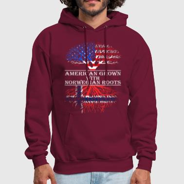 American Grown With Norwegian Roots - Men's Hoodie