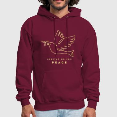 Meditating for Peace - Men's Hoodie