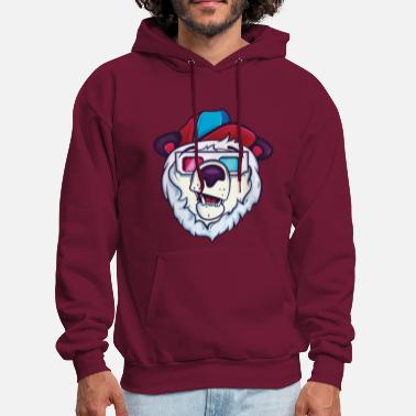 Funny Ice cold polar bear - Men's Hoodie