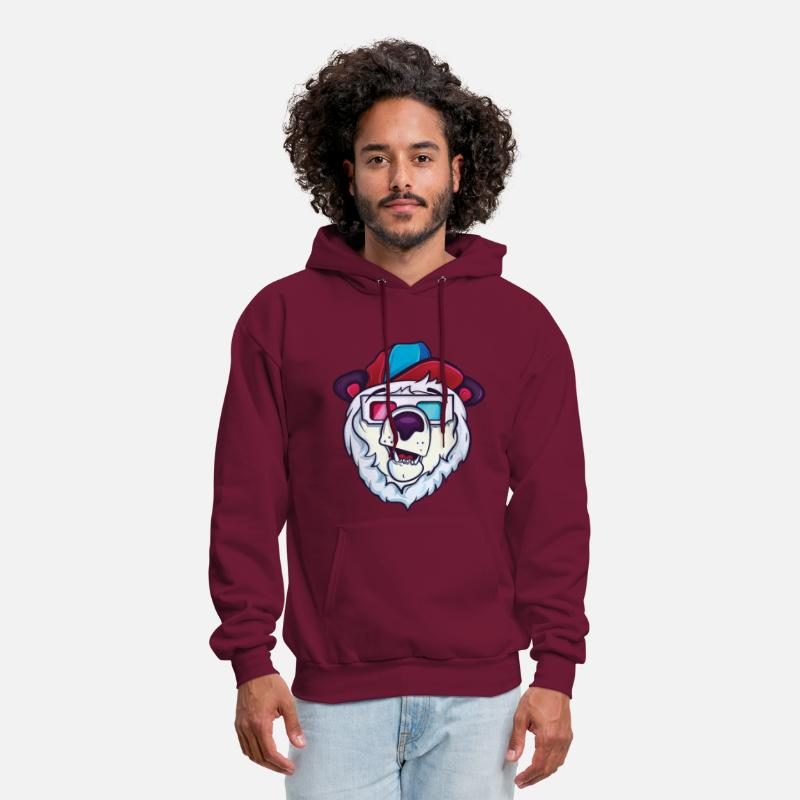 Funny Hoodies & Sweatshirts - Ice cold polar bear - Men's Hoodie burgundy