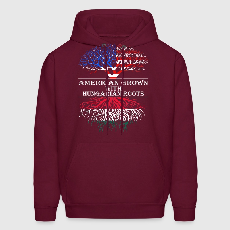 American Grown With Hungarian Roots - Men's Hoodie