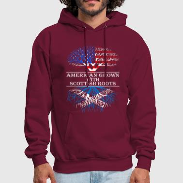 American Grown With Scottish Roots - Men's Hoodie