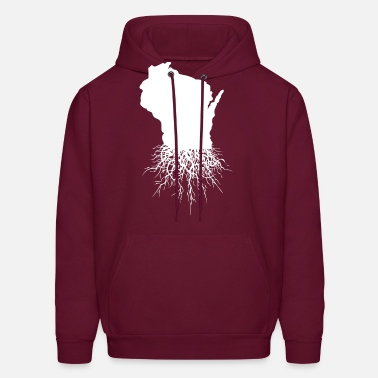 Wisconsin Wisconsin Roots Classic Style Home Roots Organic - Men's Hoodie