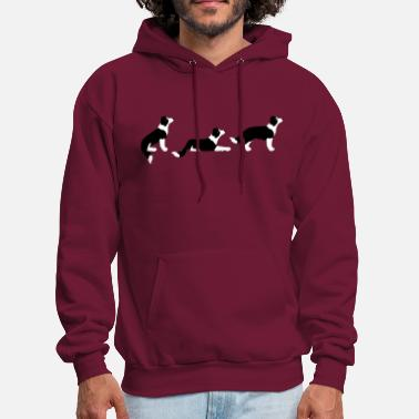 Collie sit down stay border collie - Men's Hoodie