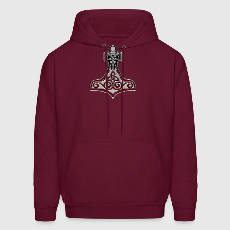 Thors Hammer, Molnir, Mölnir, Amulet, Protection - Men's Hoodie