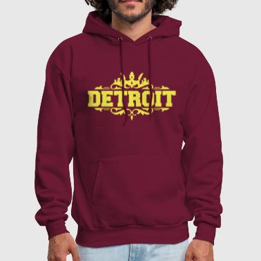 DETROIT michigan usa down with detroit - Men's Hoodie
