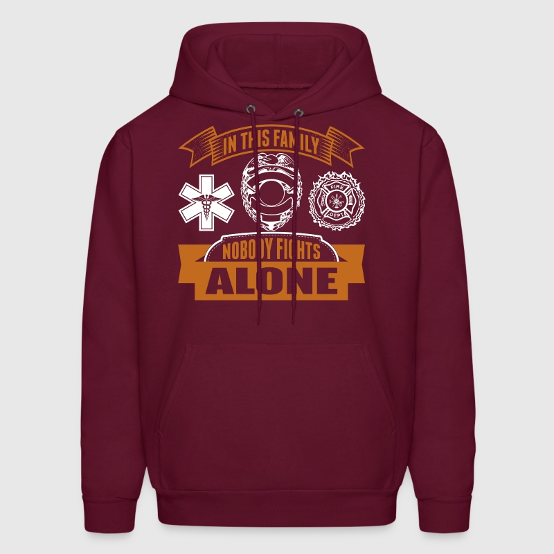 In This Family Nobody Fights Alone - Men's Hoodie