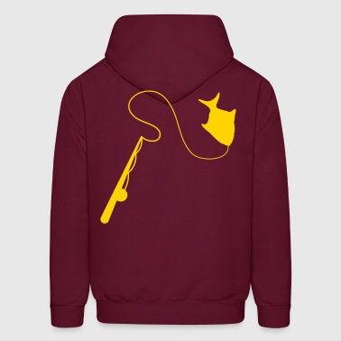 Fishing Rod with a simple fish  - Men's Hoodie