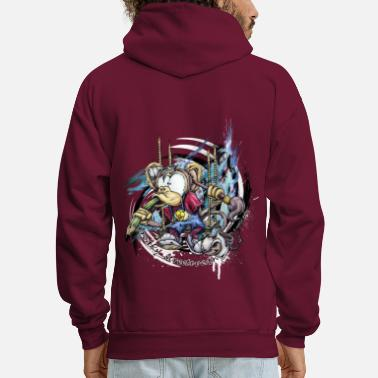 Graphic the graphic monkey - Men's Hoodie