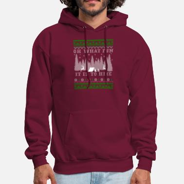 Ugly Christmas hiking fun Ugly Christmas - Men's Hoodie