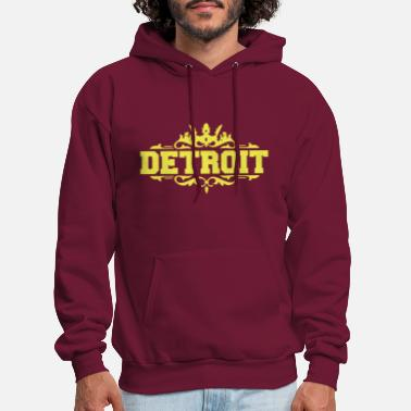 Down With Detroit DETROIT michigan usa down with detroit - Men's Hoodie