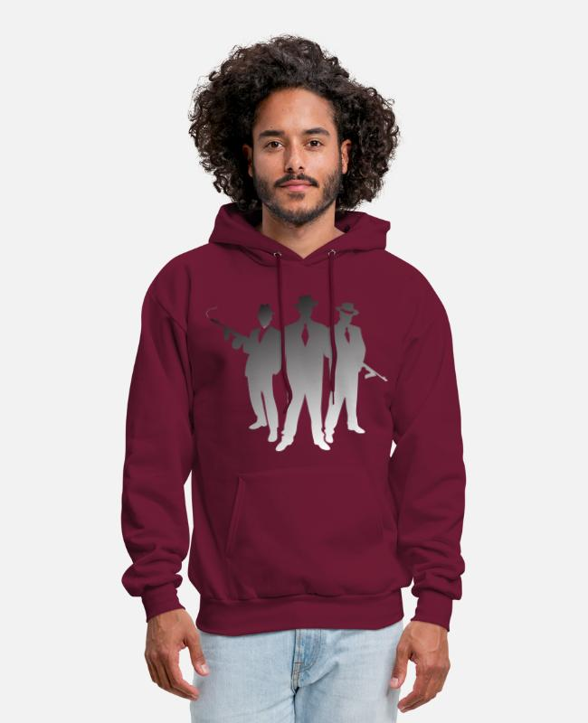 Mafia Hoodies & Sweatshirts - Mob (dd)++ - Men's Hoodie burgundy