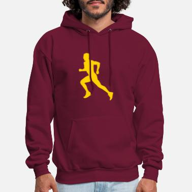 Marathon &amp male runner - Men's Hoodie