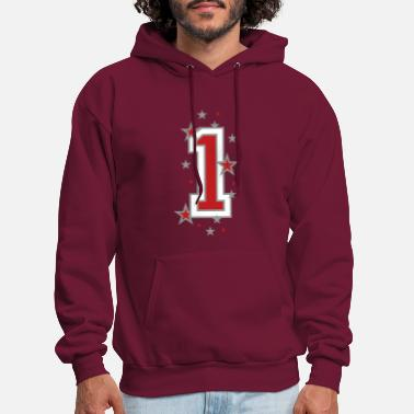 Back Number Numbers The number 1 - Men's Hoodie