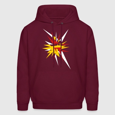 Explosion and rays - Men's Hoodie