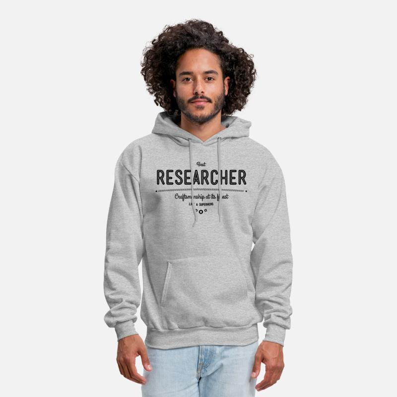 Phd Hoodies & Sweatshirts - best researcher - craftsmanship at its finest - Men's Hoodie heather gray