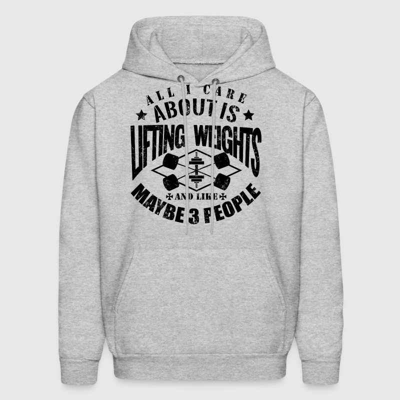 Weights Funny Gym Quotes - Men's Hoodie