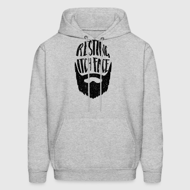 Resting Itch Face - Funny Beard PUn - Men's Hoodie